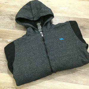 TONY HAWK Full Zip Up Gray Hooded Sweatshirt